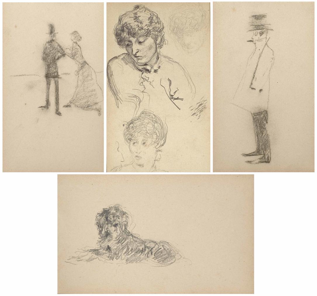 Henri de Toulouse-Lautrec-Petit Album Relie En Toile Grise-1882