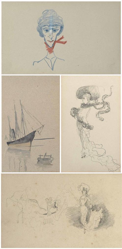 Henri de Toulouse-Lautrec-Petit Album Relie En Rouge-1880