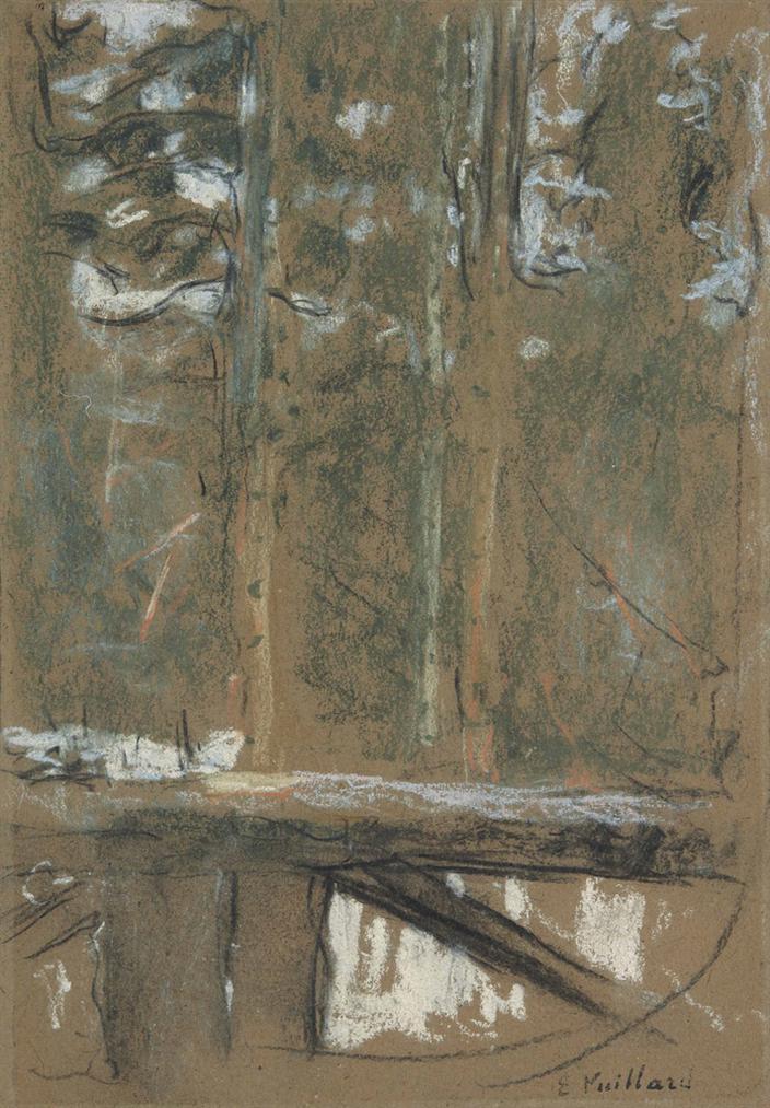 Edouard Vuillard-Le Balcon Sur Les Sapins-1917