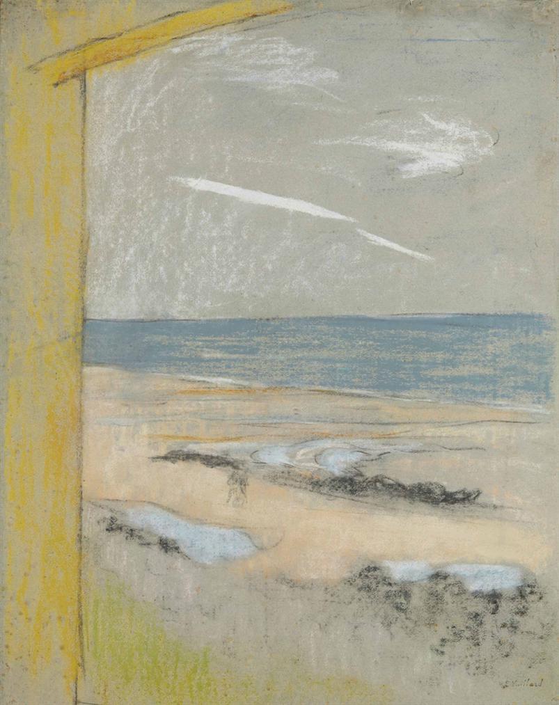 Edouard Vuillard-La Plage Vue De La Cabine-1914