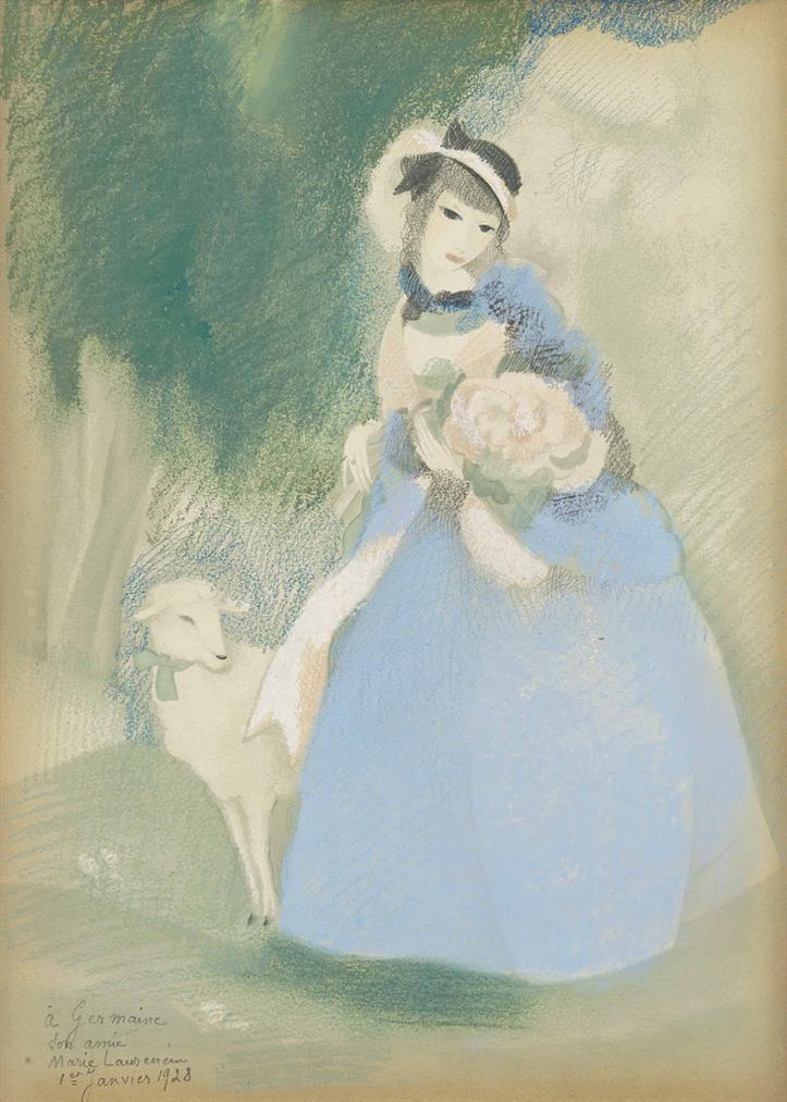 Marie Laurencin-Jeune Fille Et Brebis-1928