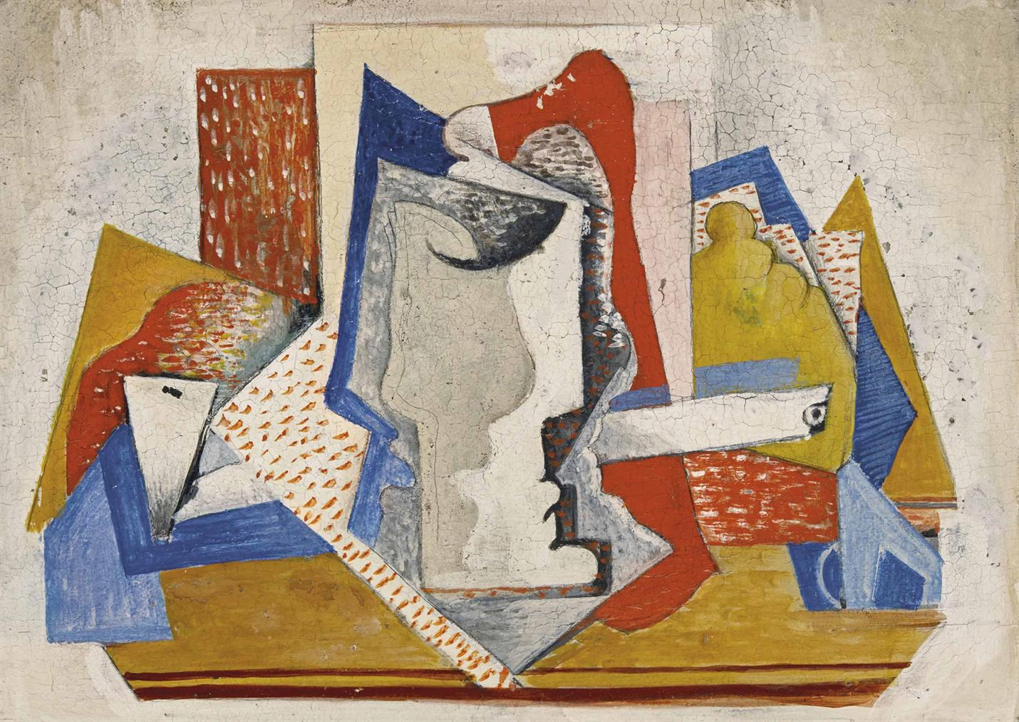 Serge Ferat-Nature Morte A La Pipe-1913