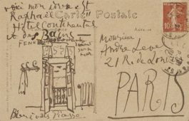 Pablo Picasso-Vue Dune Fenetre (Carte Postale Adressee A Andre Level)-1919