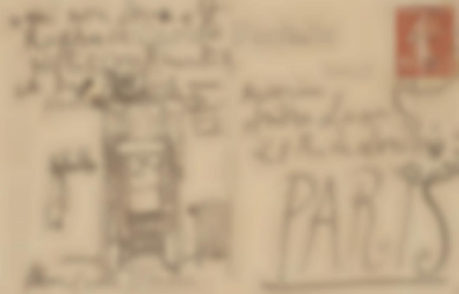 Pablo Picasso-Vue Dune Fenetre (Carte Postale Adressee A Andre Level)-1919