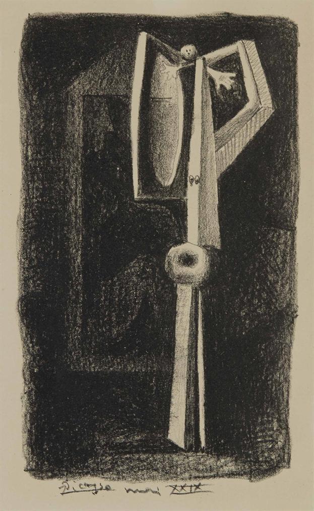 Pablo Picasso-Figure (Planche Contenue Dans «Le Manuscrit Autographe»)-1929