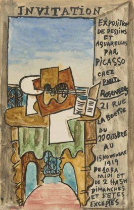 Pablo Picasso-Le Gueridon (Maquette Pour Un Carton Dinvitation)-1919