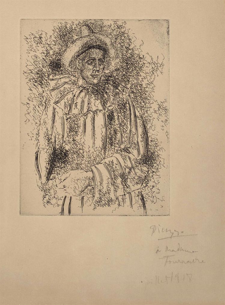 Pablo Picasso-Pierrot (Massine En Pierrot)-1918