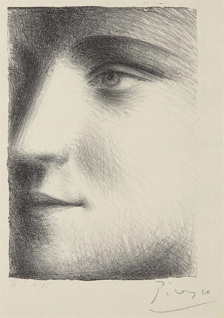 Pablo Picasso-Visage De Marie-Therese-1928