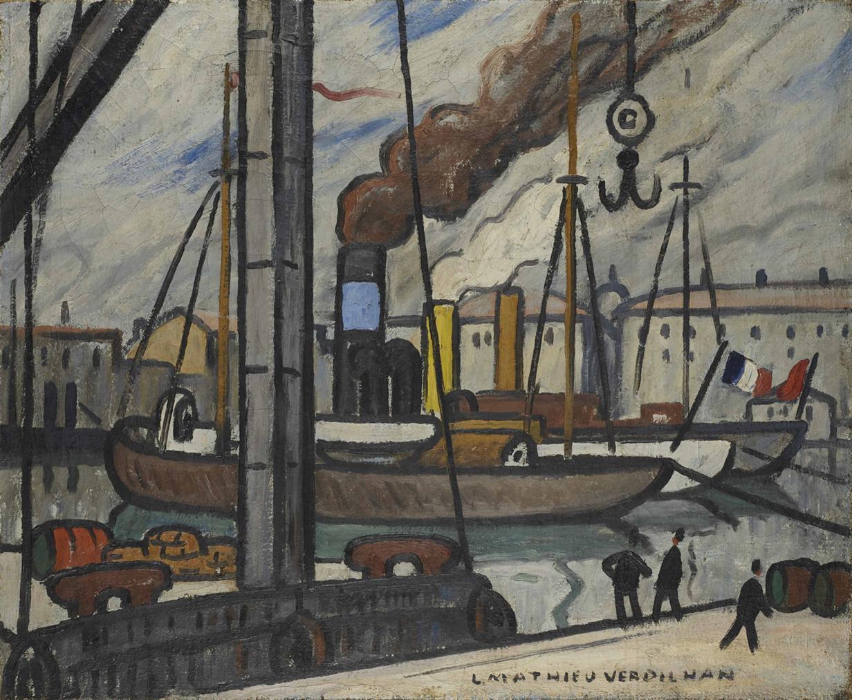 Louis-Mathieu Verdilhan-Vue Du Port De Marseille-1922