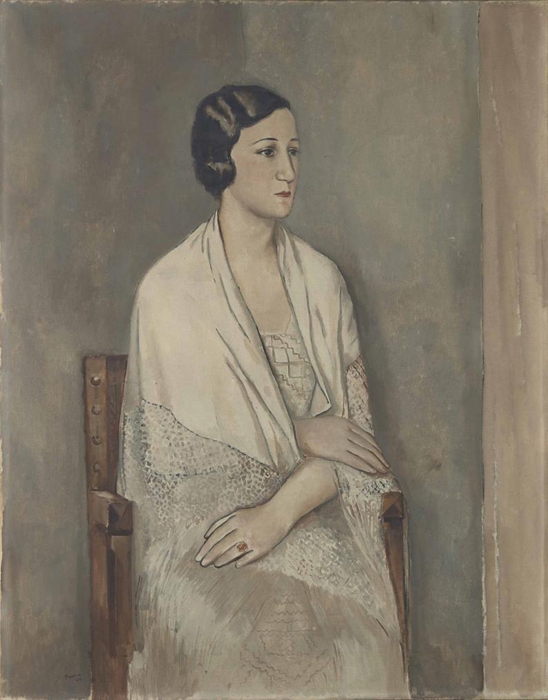 Pedro Pruna O'Cerans - Portrait De Madame Tournaire-1924