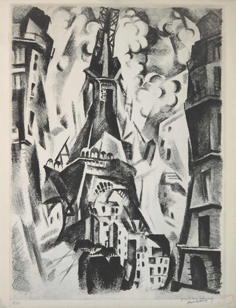 D'Apres Robert Delaunay - Tour Eiffel-1960
