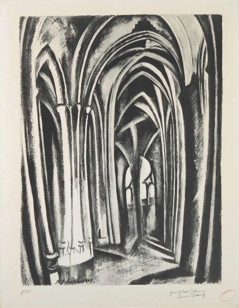 D'Apres Robert Delaunay - Saint Severin-1960