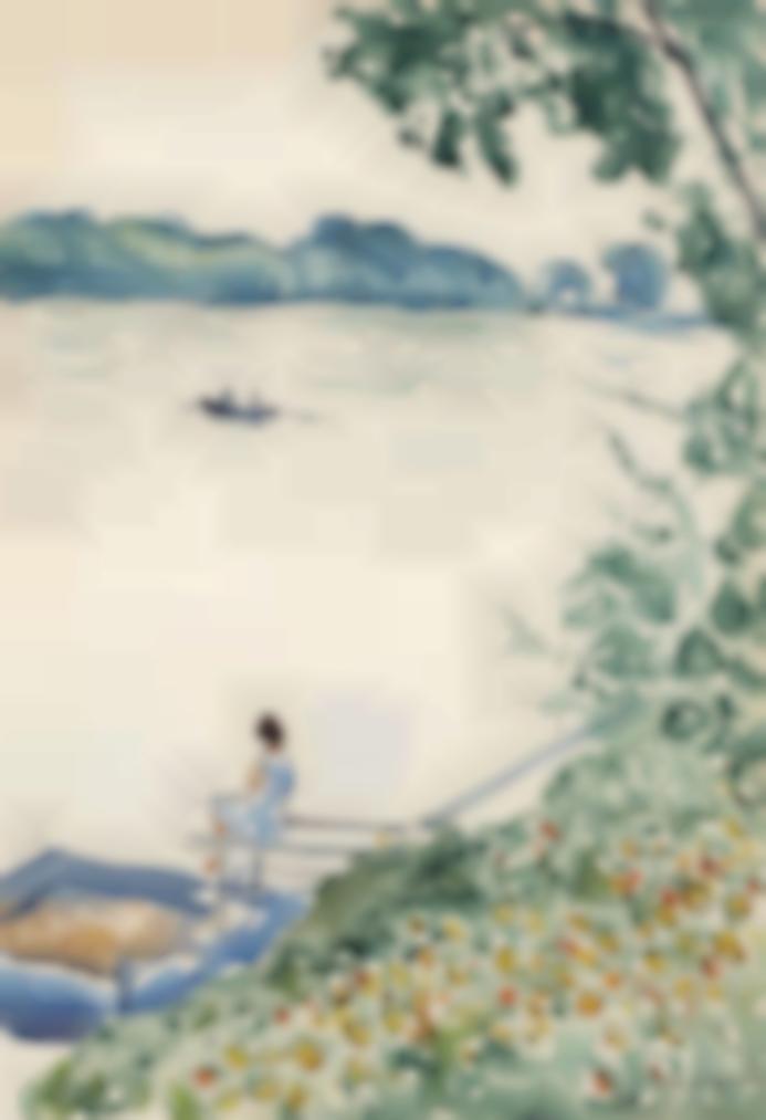 Albert Marquet-Poissy, Madame Marquet Sur Le Ponton De La Villa Marie-Charlotte-1929
