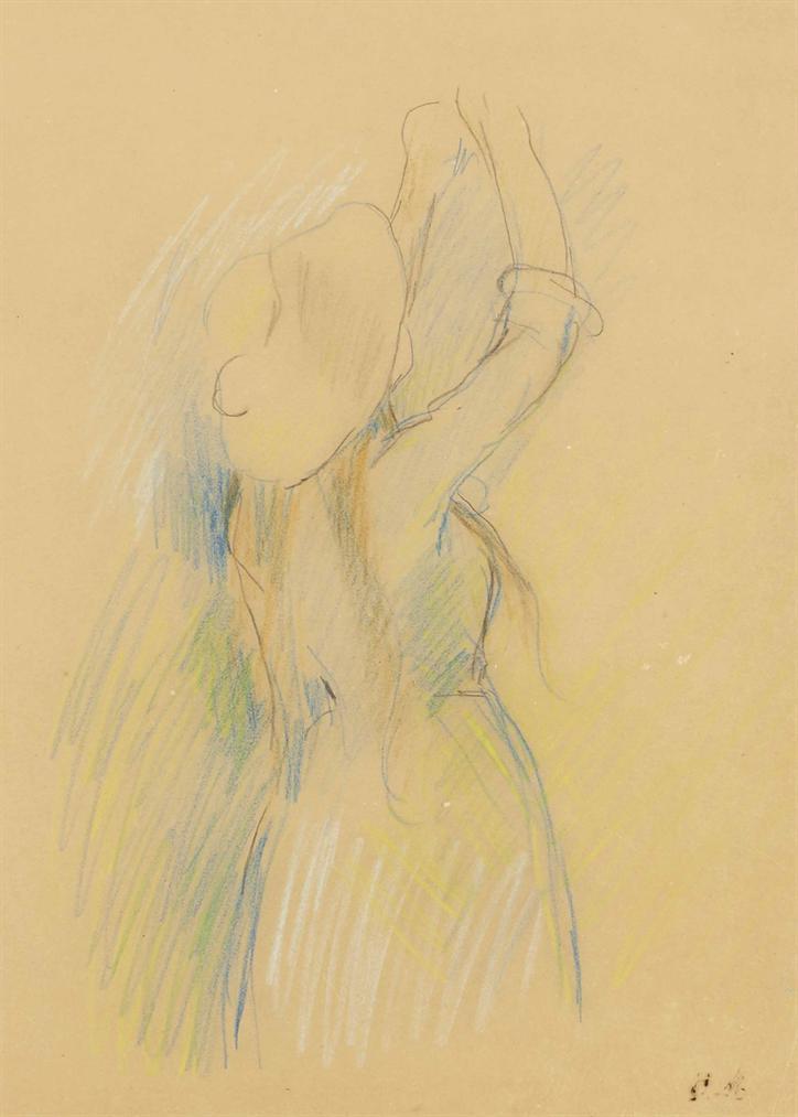Berthe Morisot-Etude Pour Le Cerisier-1891