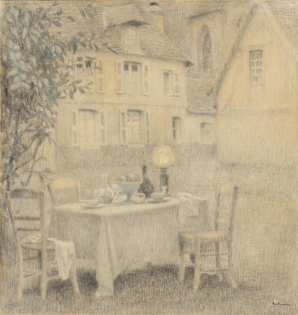 Henri Eugene Le Sidaner-La Table, Gerberoy-1901