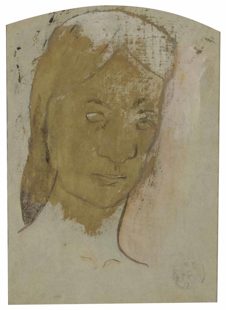 Paul Gauguin-Tete De Tahitienne (Recto/Verso)-1894