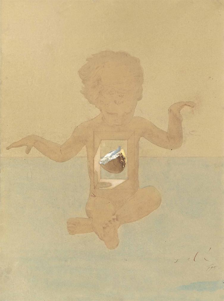 Salvador Dali-Etude Pour La Madone De Port-Lligat-1950
