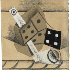 Pablo Picasso-Nature Morte A La Pipe Et Aux Des-1914