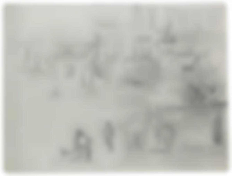 Edouard Manet-Le Pont De Leurope, Etude Pour Le Chemin De Fer (Recto/Verso)-1873