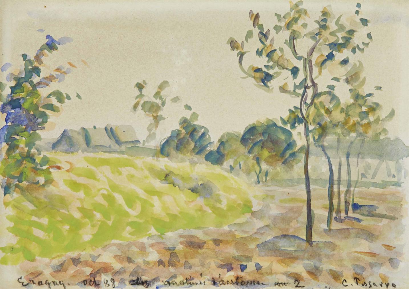 Camille Pissarro-Matinee Dautomne A Eragny-1888