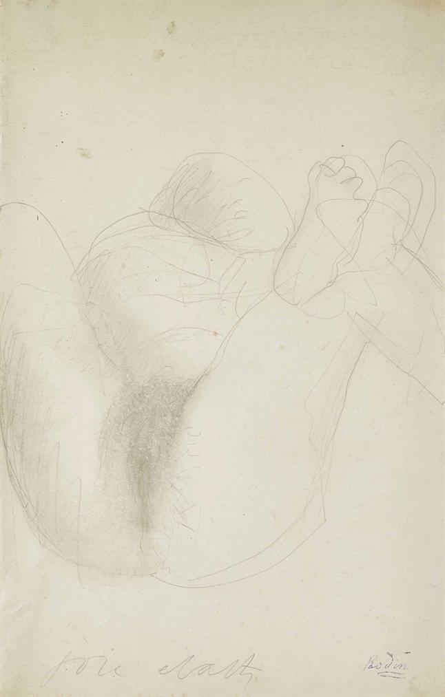 Auguste Rodin-Joie - Ecarts Ou Femme Couchee, Jambes Ecartees-1900
