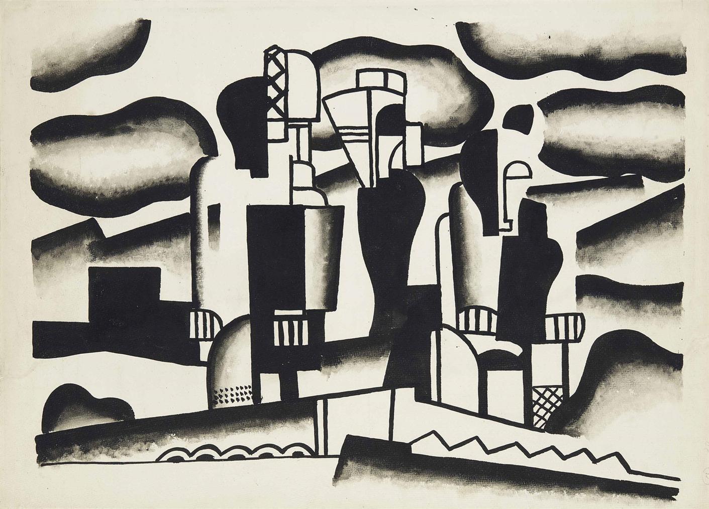 Fernand Leger-Etude Pour Le Rideau De Scene De  La Creation Du Monde-1923