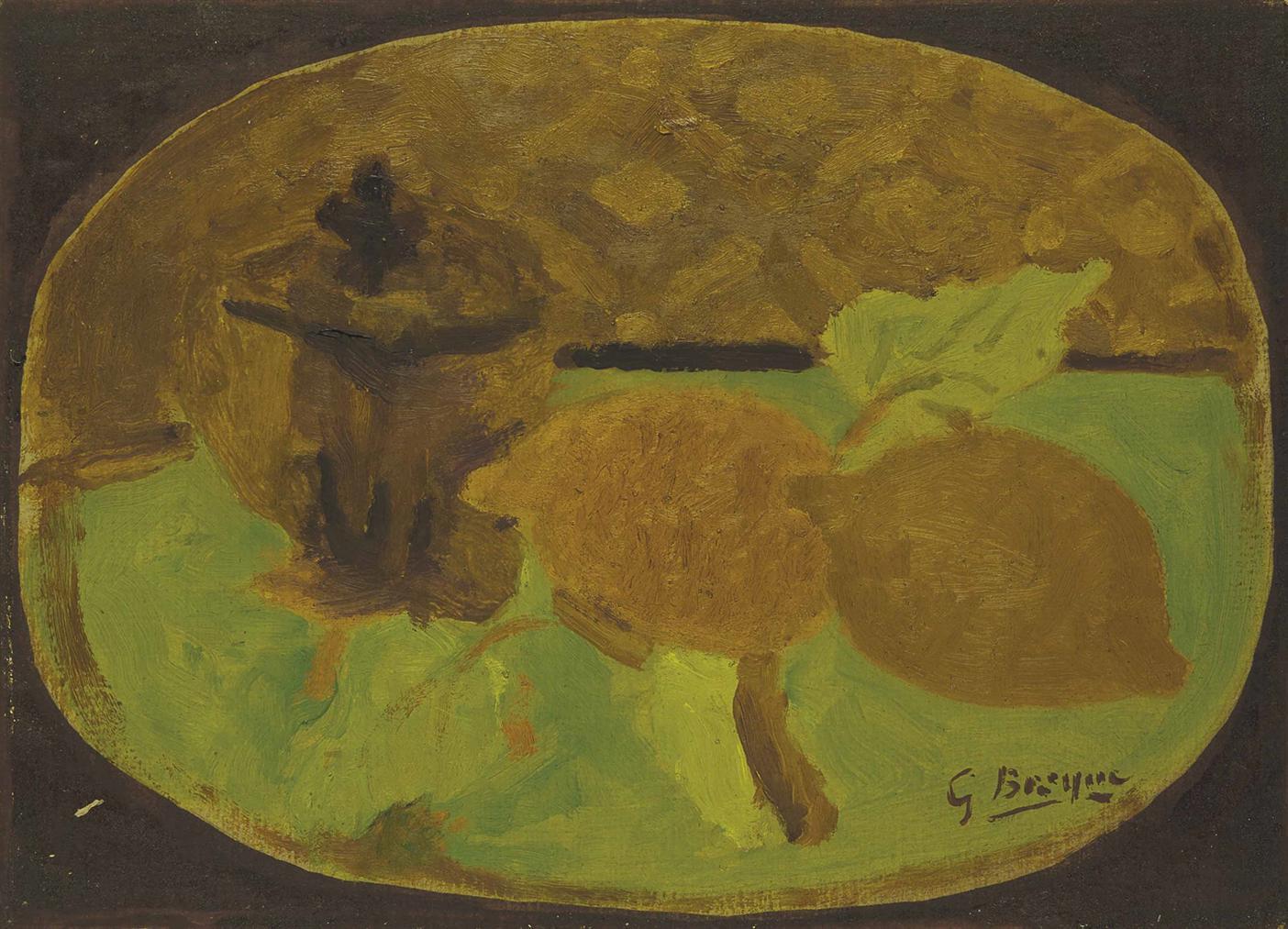 Georges Braque-Sucrier Et Citrons-1924