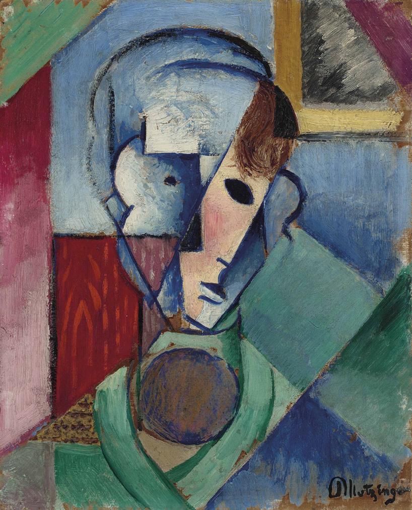 Jean Metzinger-Tete Cubiste-1914