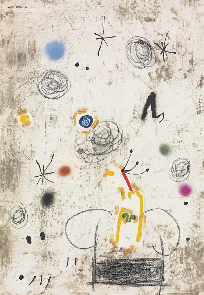 Joan Miro-Maquette Pour Personatge I Estels III-1979