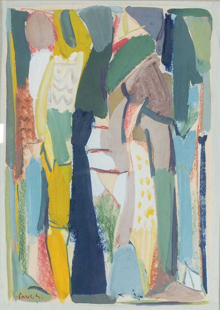 Paul Guiragossian-Untitled (Standing Figures)-1990