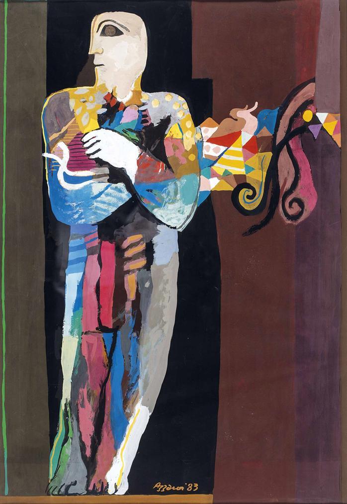 Dia Azzawi-Standing Figure-1989