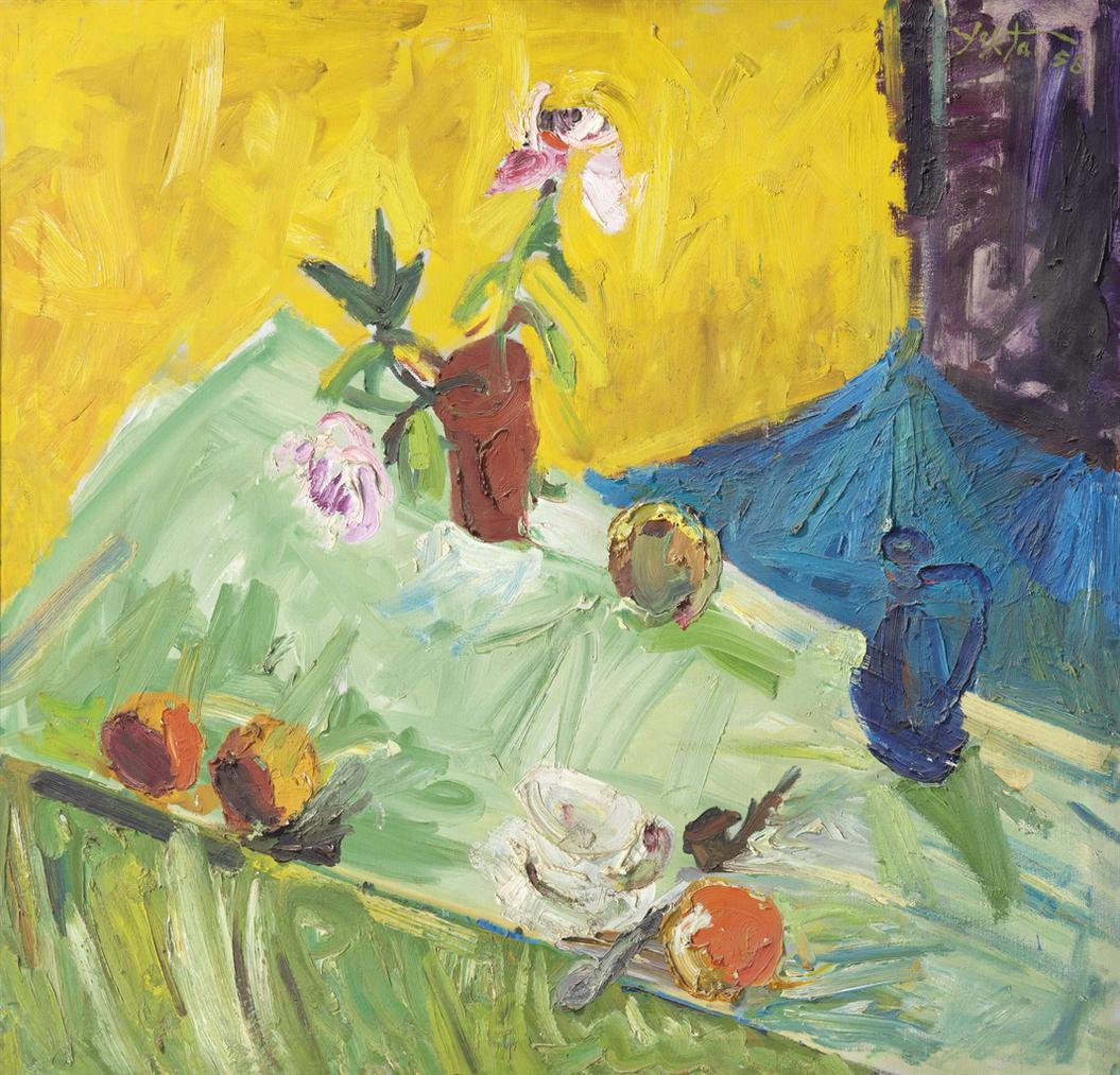 Manoucher Yektai-Untitled (Still Life)-1956