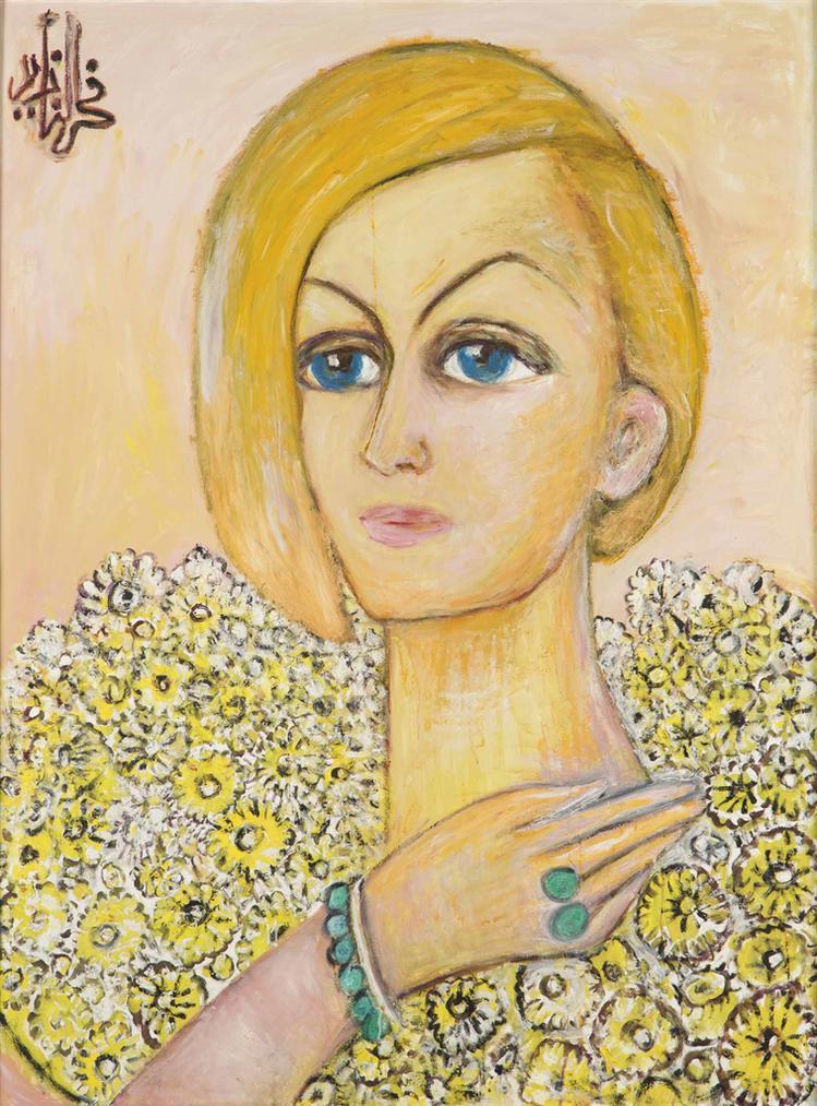 Fahr El-Nissa Zeid - Portrait Of Claremaria-1980