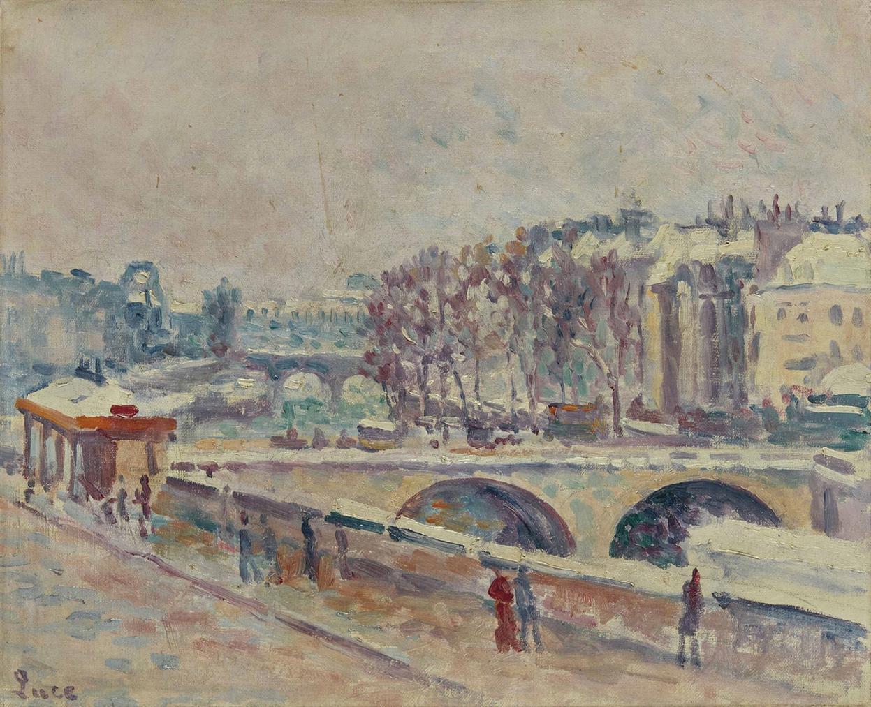 Maximilien Luce-Le Quai Saint-Michel-