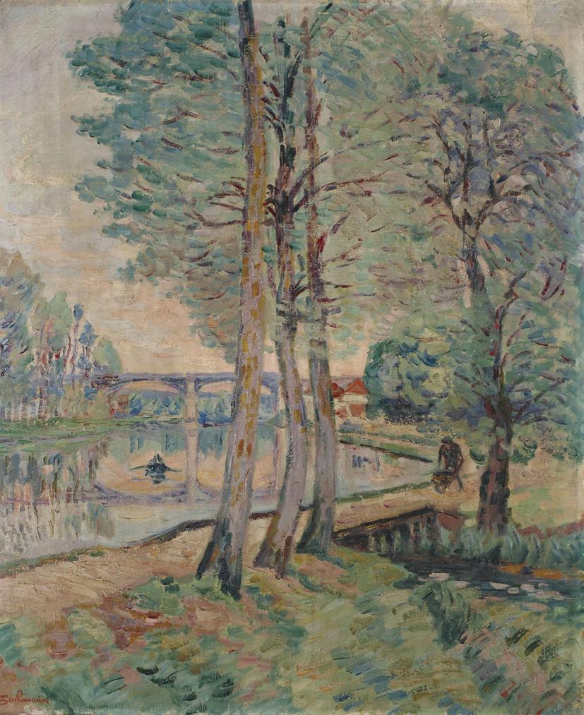 Jean-Baptiste Armand Guillaumin-Paysage De Moret, Ile-De-France-1902