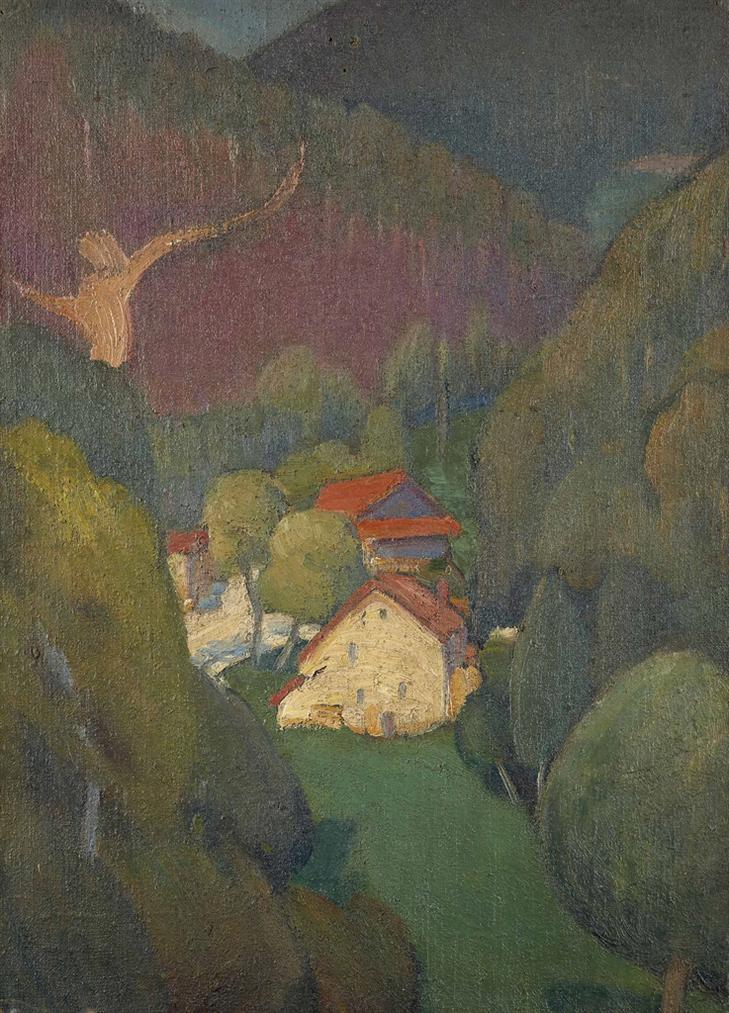 Jan Verkade-Paysage Aux Alentours De Beuron-1907