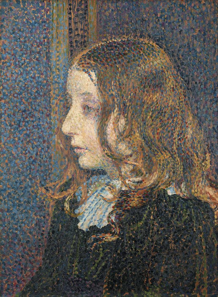 Theo van Rysselberghe-Portrait De La Petite Denise Marechal-1894