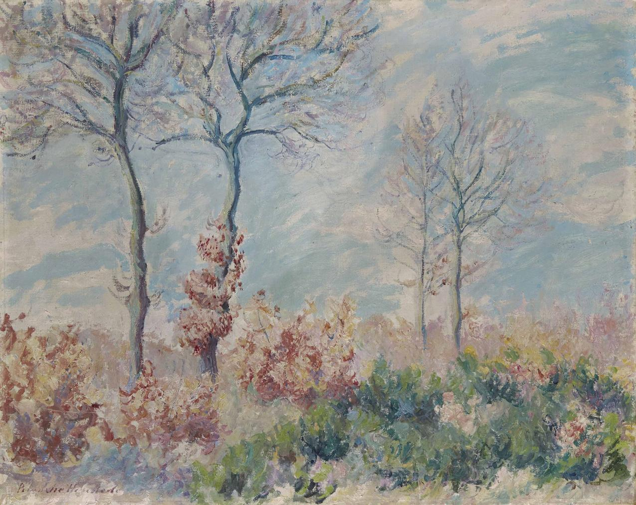 Blanche Hoschede Monet-Le Bois De Falaise-1888