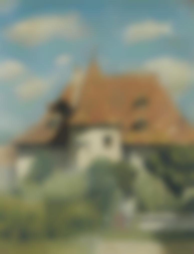 Pierre Bonnard-La Maison Aux Environs Du Grand-Lemps-1886