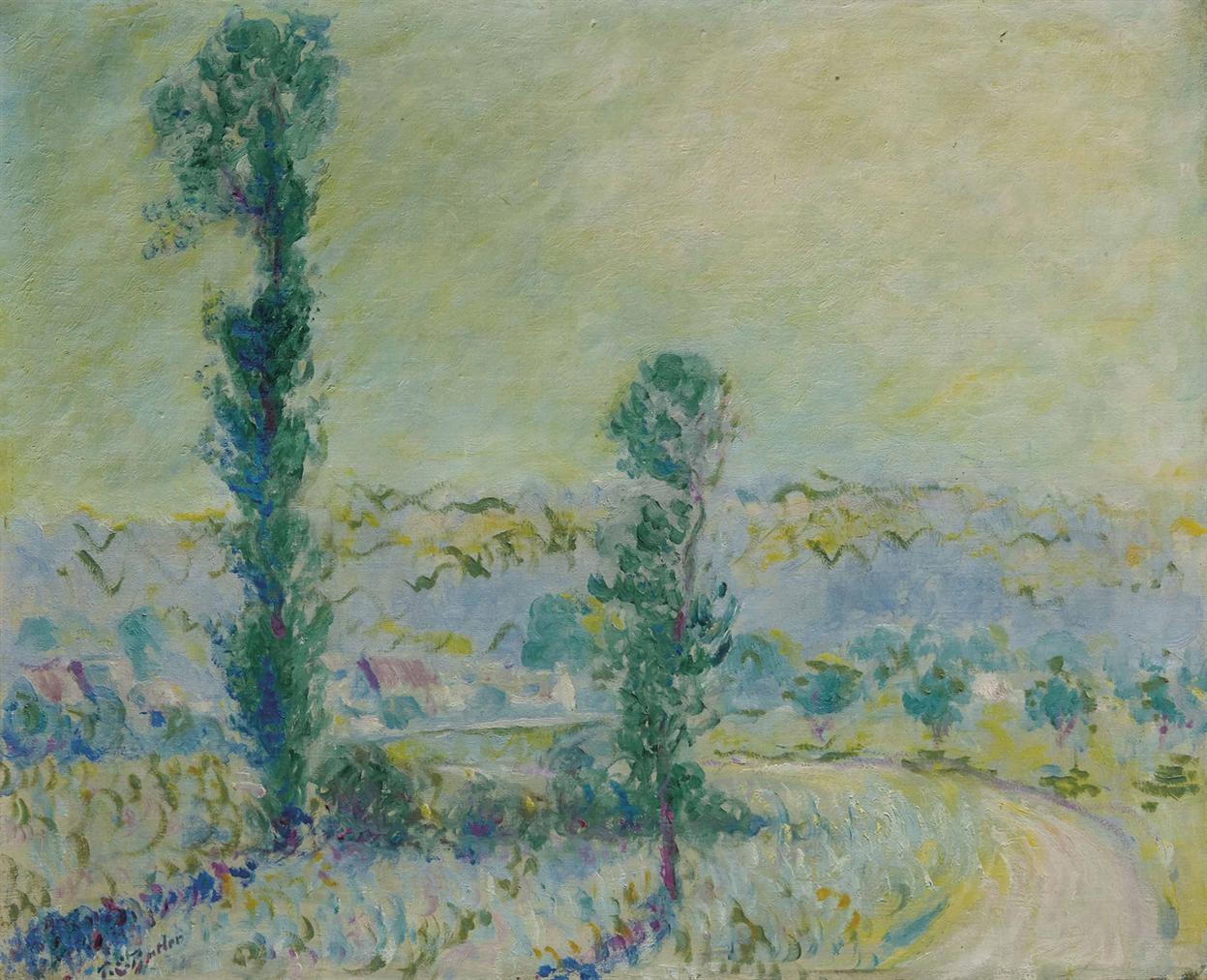 Theodore Earl Butler - Un Petit Chemin A Giverny Par Vernon Dans L Eure-