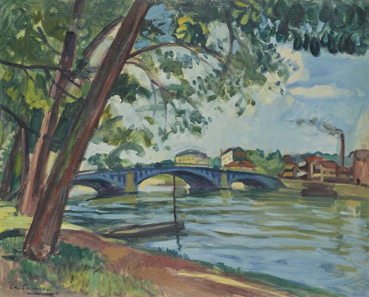 Charles Camoin-Les Berges De La Seine A Suresnes-1910
