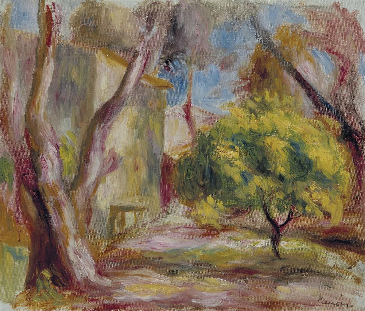 Pierre-Auguste Renoir-Paysage De Cagnes-1905