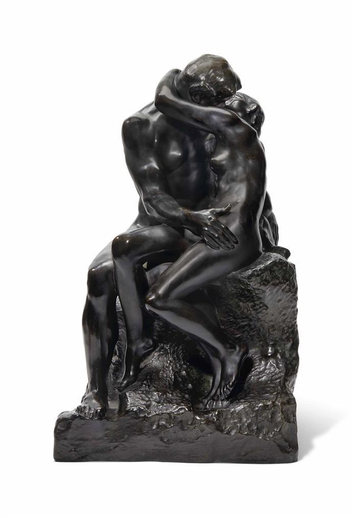 Auguste Rodin-Le Baiser, 2Eme Reduction, Dit Aussi No. 4-1914
