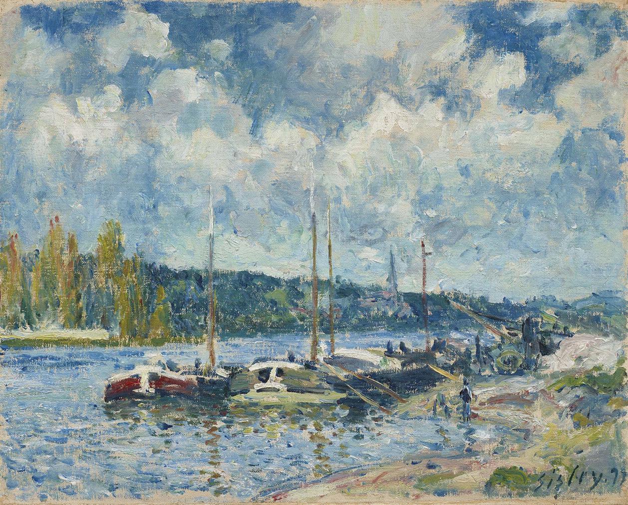 Alfred Sisley-La Seine A Bougival-1877