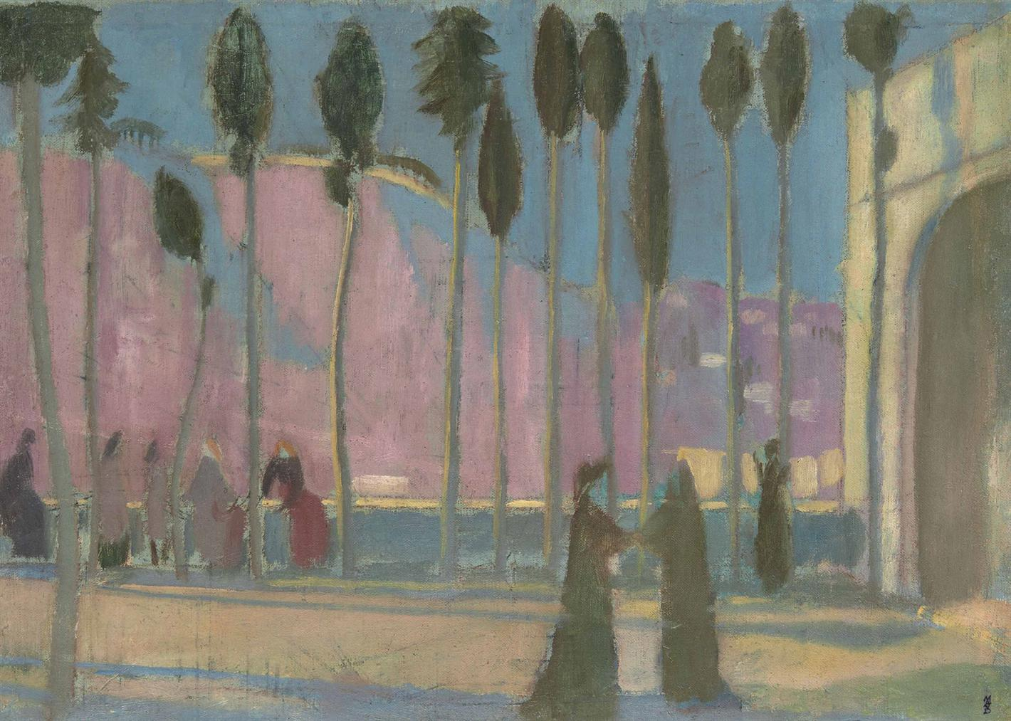 Maurice Denis-Terrase A Fiesole, Dante Et Beatrice-1904