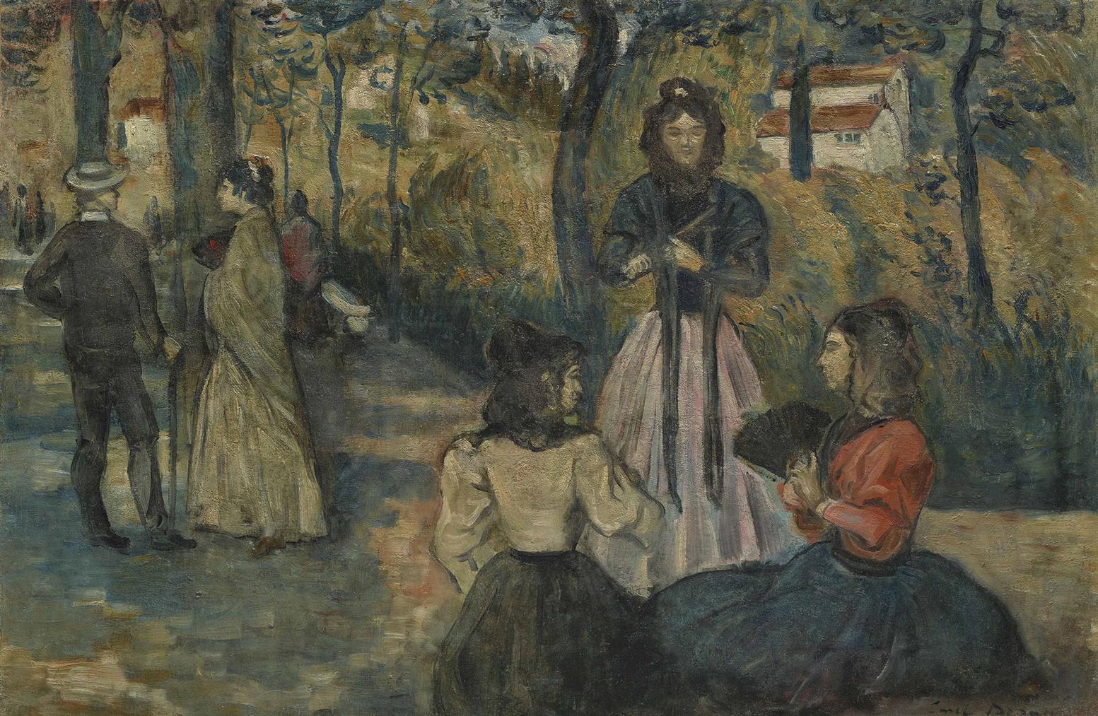 Emile Bernard-Conversation Dans Le Parc-