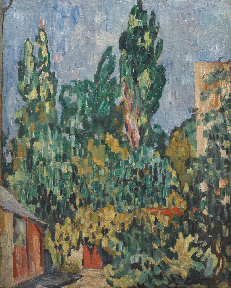 Louis Valtat-Jardin A Versailles-1908