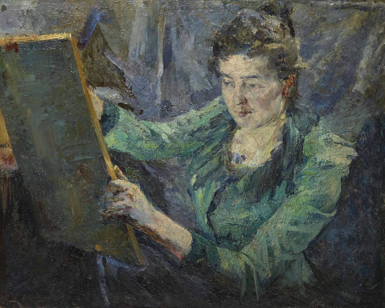 Raphael Lewisohn - Portrait De Mary Cassatt Dans Son Atelier-