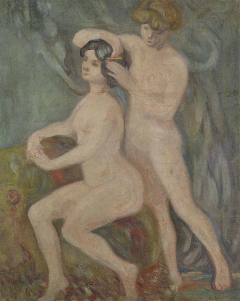 Louis Valtat-Nus Se Coiffant-1900