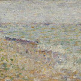 Georges Seurat-Le Mouillage A Grandcamp-1885